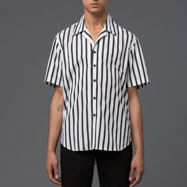 Carlos Campos Black and White Short Sleeve Shirt