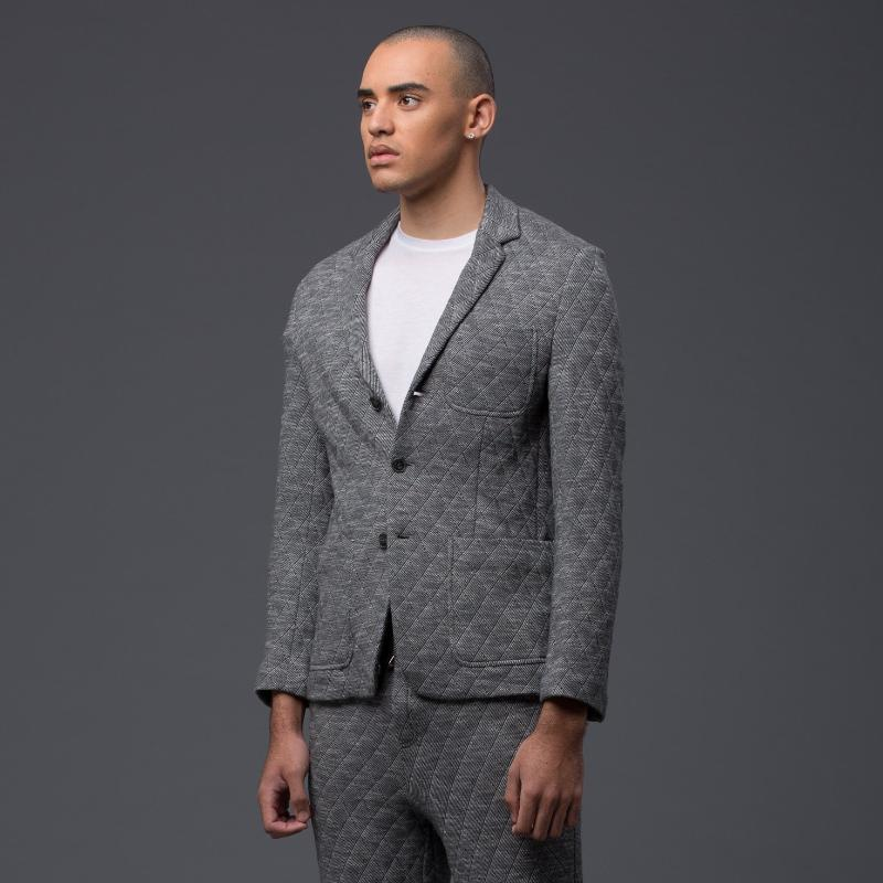 Krammer and Stoudt Grey Wool Blazer