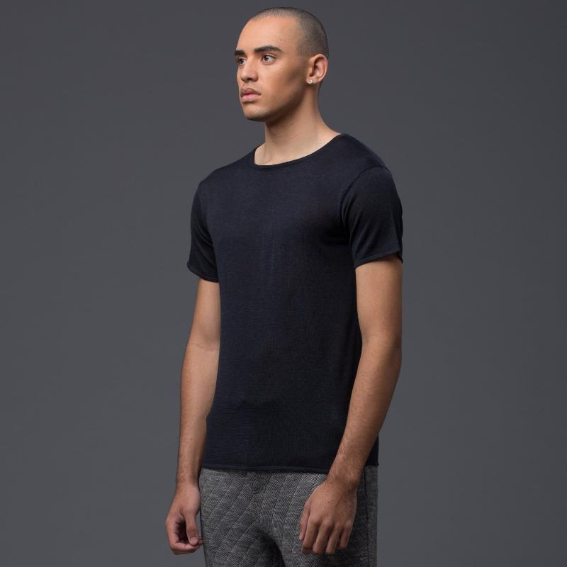 Deveaux Navy Short Sleeve Tee