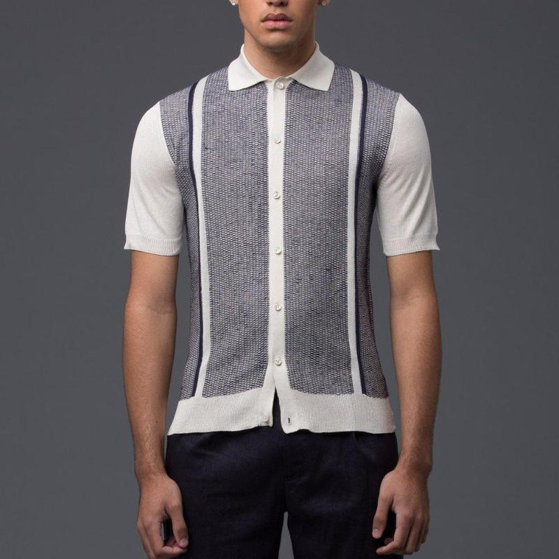 Deveaux New York Silk Resort Shirt