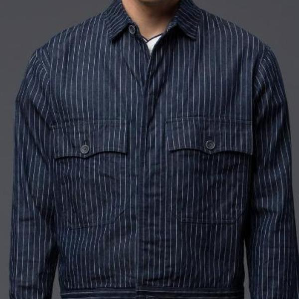 Krammer and Stoudt Denim Pinstripe Jacket