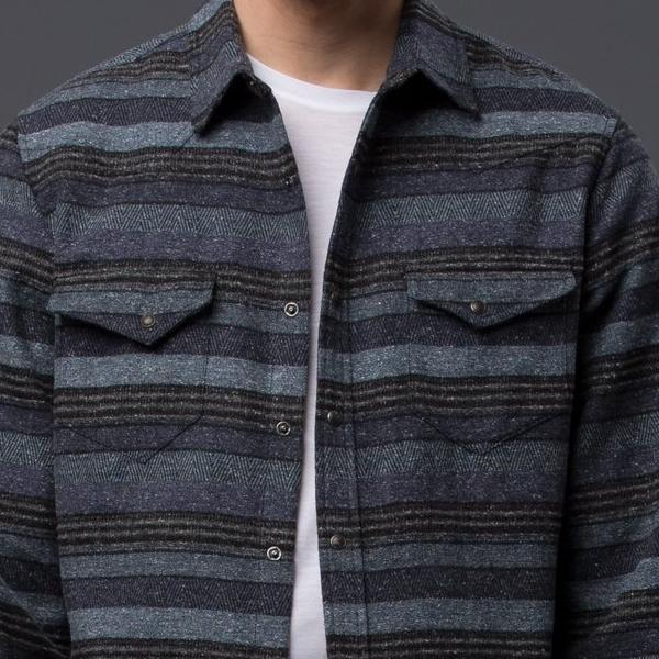 Krammer and Stoudt Blue Stripe Western Shirt