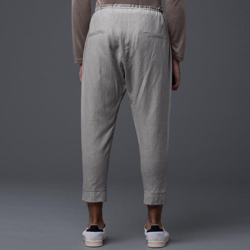 Deveaux New York Grey Wool Trousers