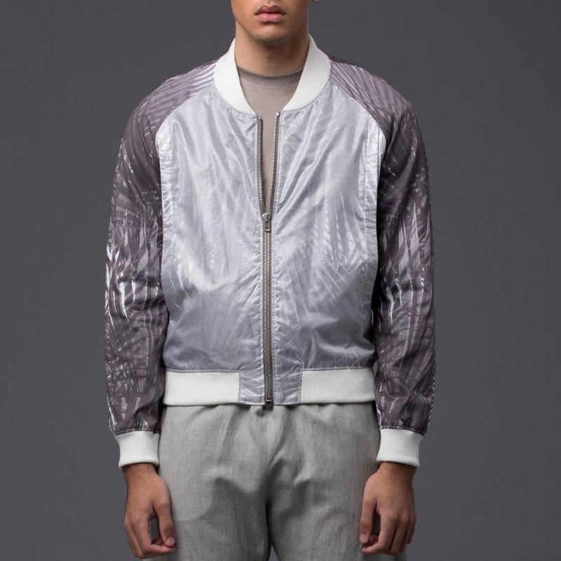 Garciavelez Black Palm Bomber Jacket