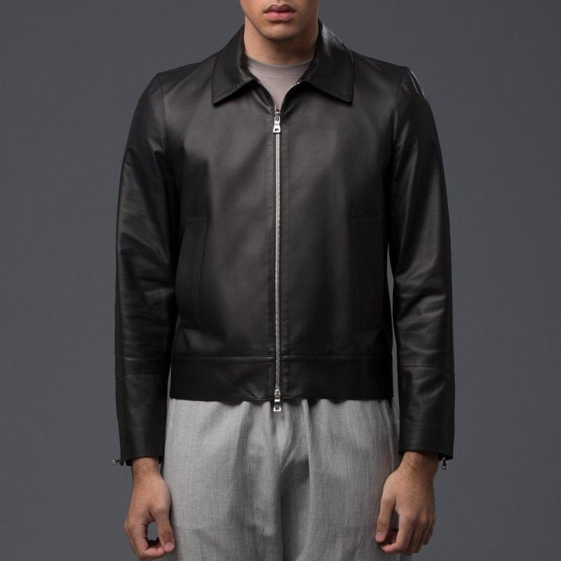 Deveaux New York Leather Flight Jacket