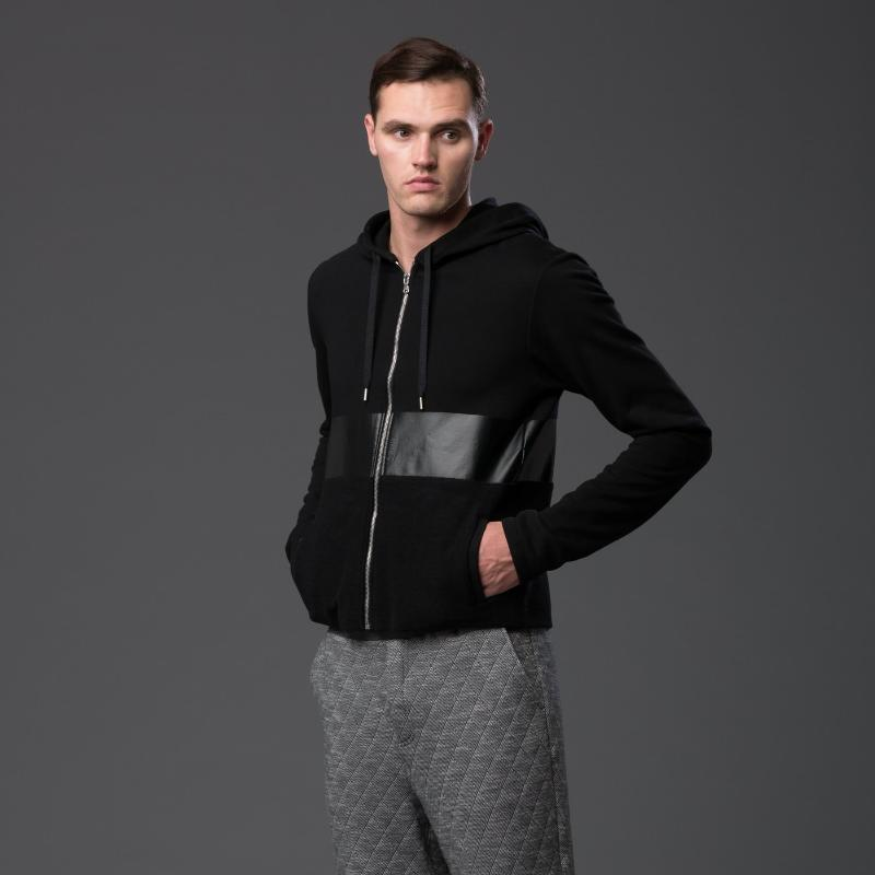 Garciavelez Black Hooded Sweatshirt