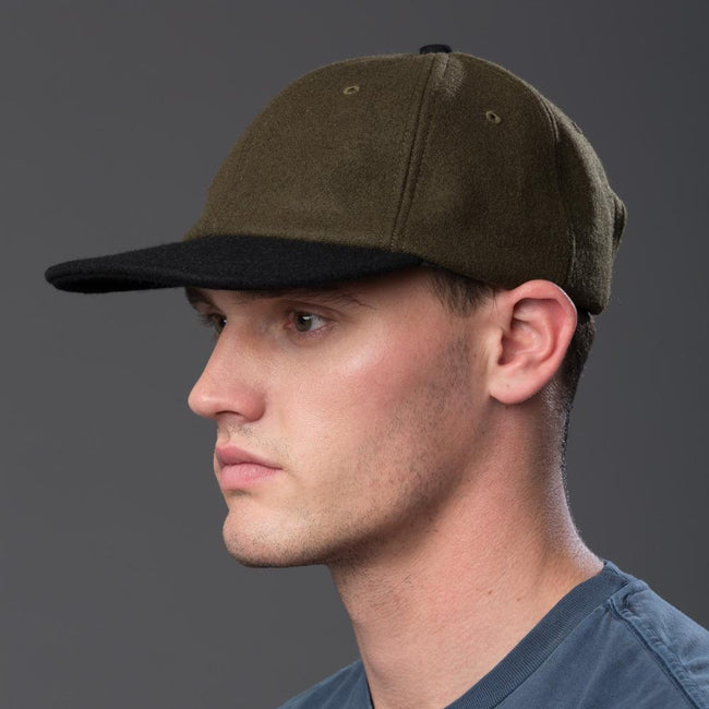 Freemans Sporting Club Olive Six Panel Baseball Cap
