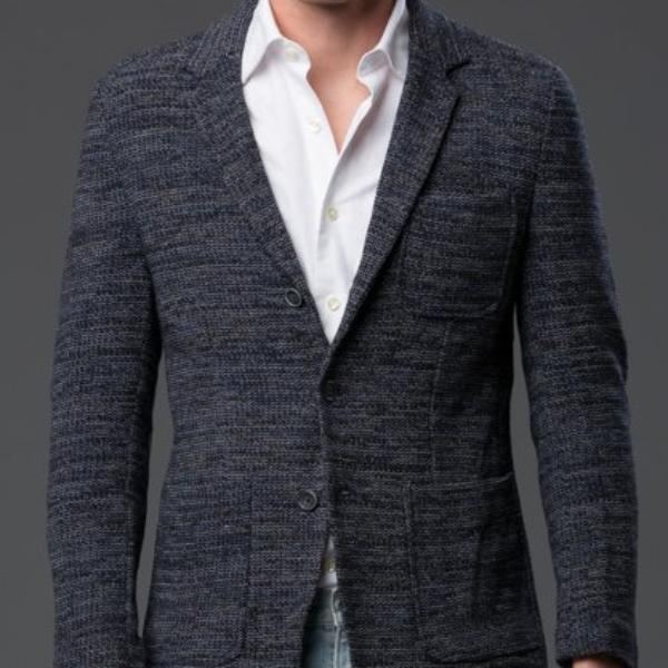 Krammer and Stoudt Navy Knit Blazer