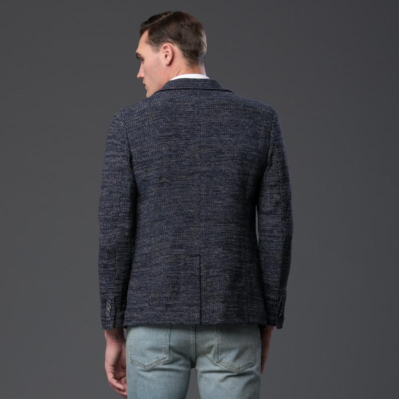 Krammer and Stoudt Navy Melange Blazer