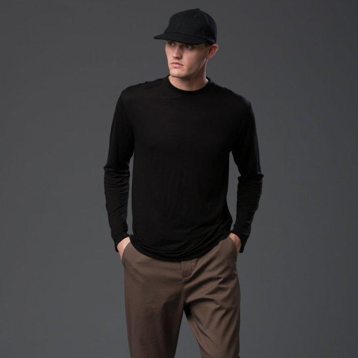 Deveaux Black Long Sleeve Tee