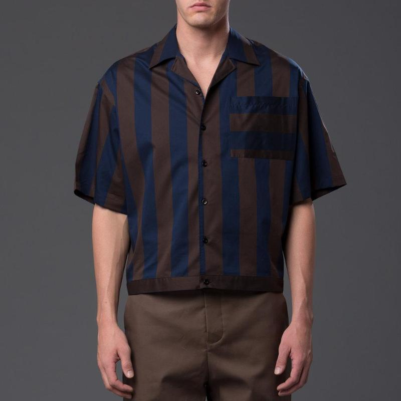 Carlos Campos Striped Oversized Shirt