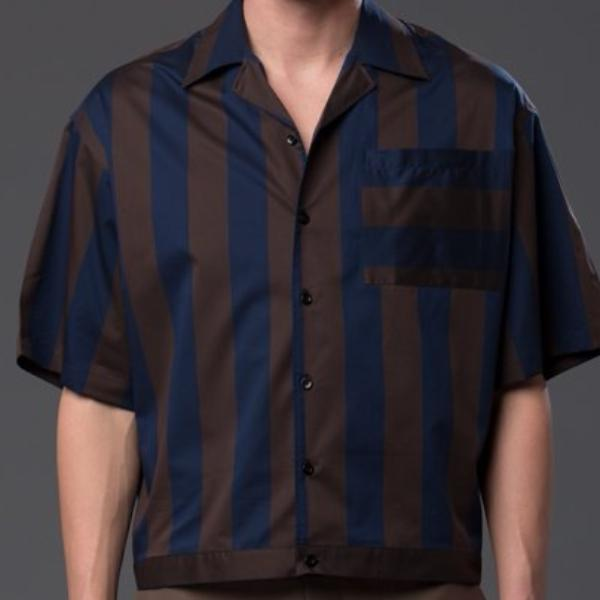 Carlos Campos Oversized Striped Shirt