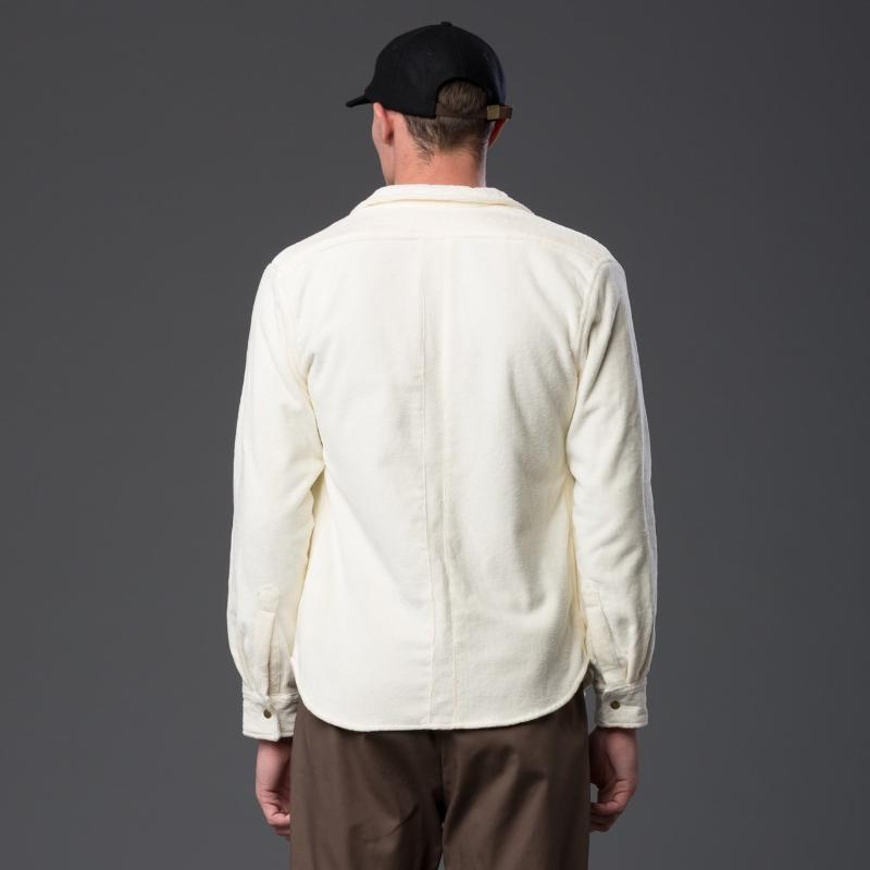 Adam Mar Collar Long Sleeve Ivory Shirt