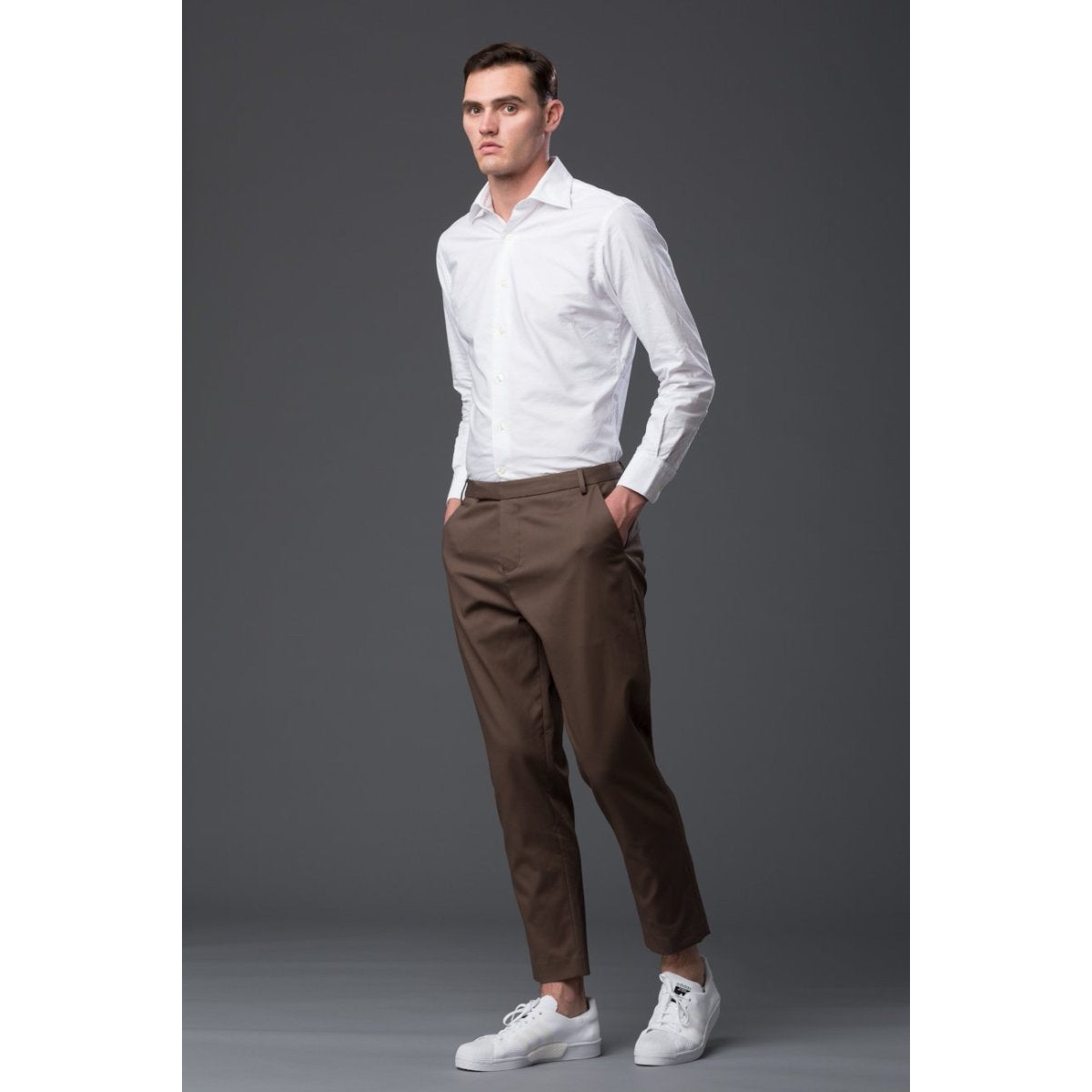 Deveaux New York Brown Trouser