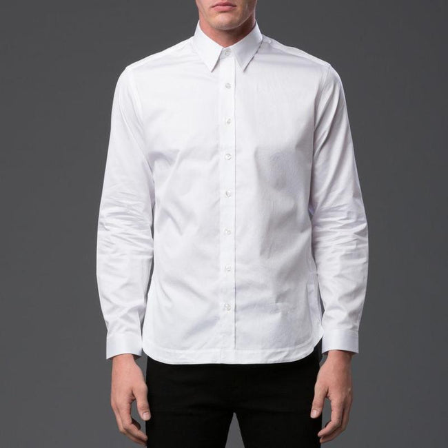 Carlos Campos Pleated Tail Button Down