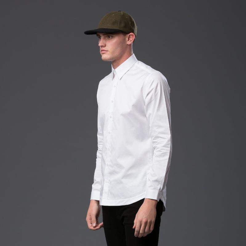 Carlos Campos White Button Down Shirt