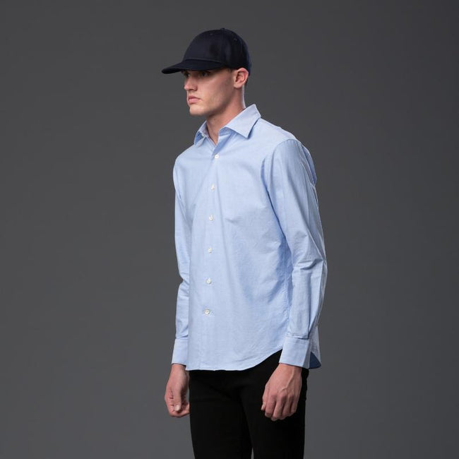 Freemans Sporting Club Blue Oxford Long Sleeve Shirt