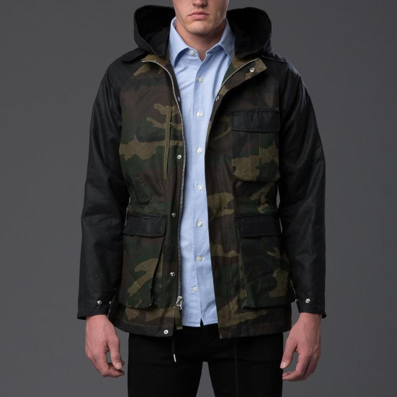 Freemans Sporting Club Waxed Camouflage Parka