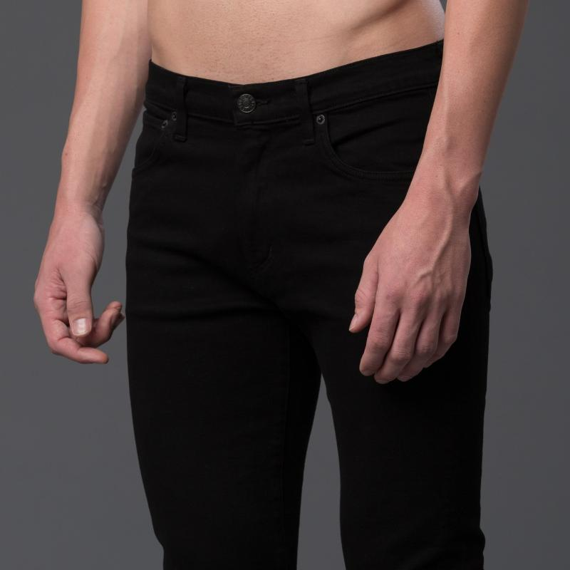 AGOLDE Slim Black Jeans Made in USA