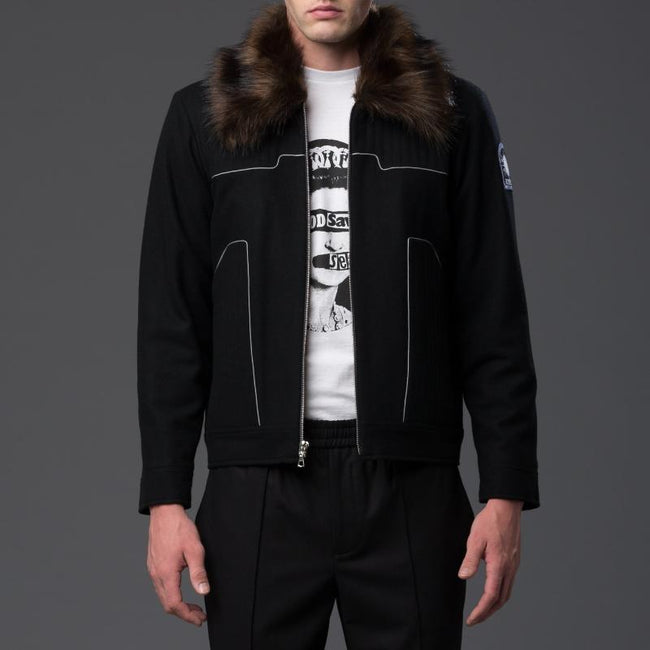 NP Elliott Black Aviator Jacket