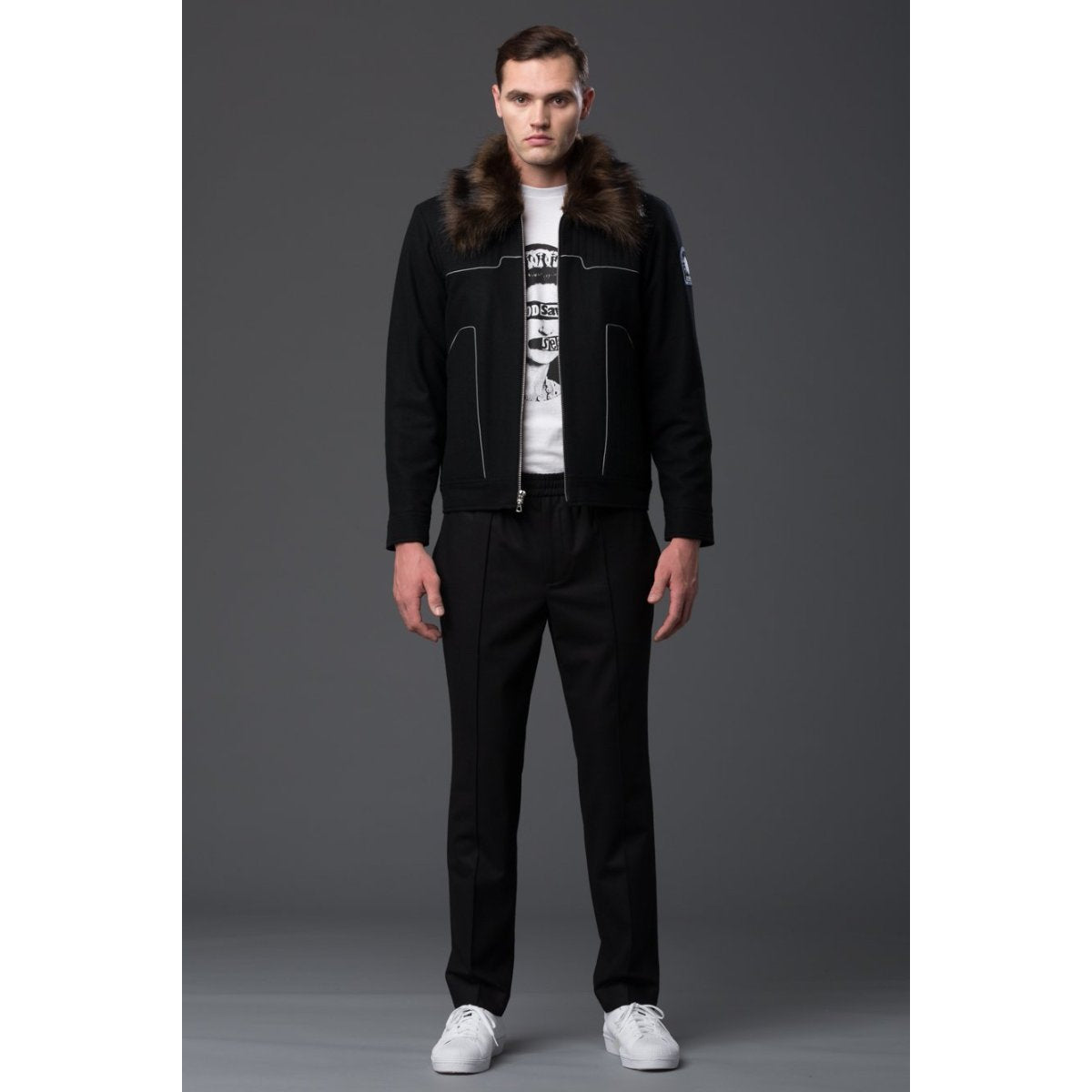 NP Elliott Black Air Force Jacket