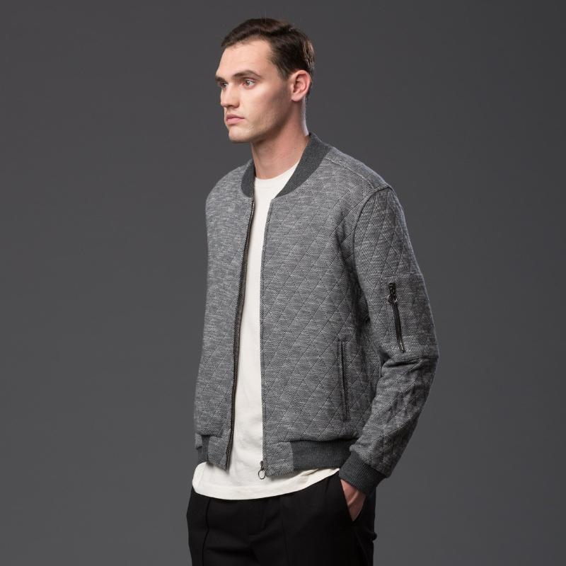 Krammer and Stoudt Grey Bomber Jacket