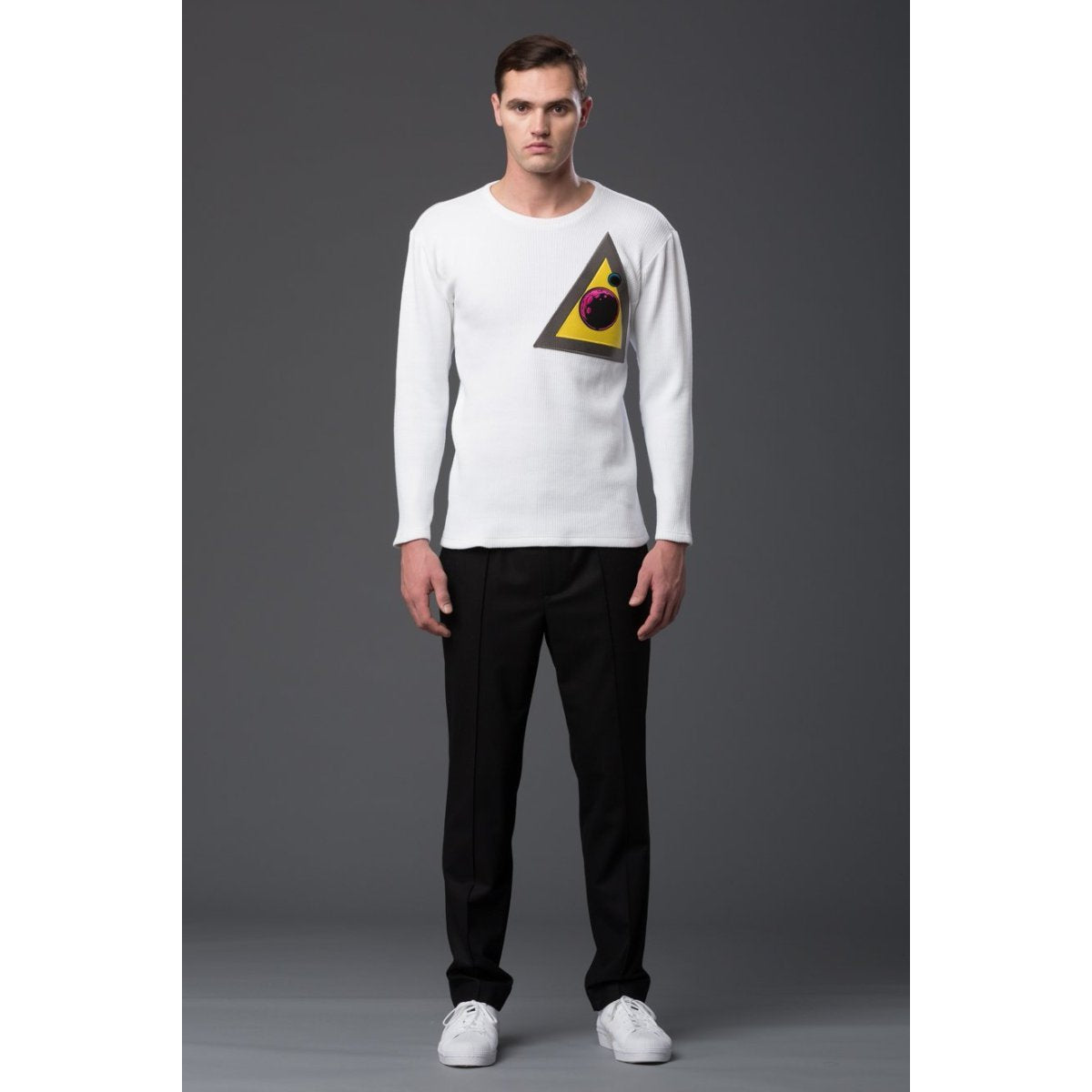 NP Elliott White Long Sleeve Tee