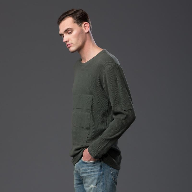 NP Elliott Long Sleeve Olive Tee Shirt