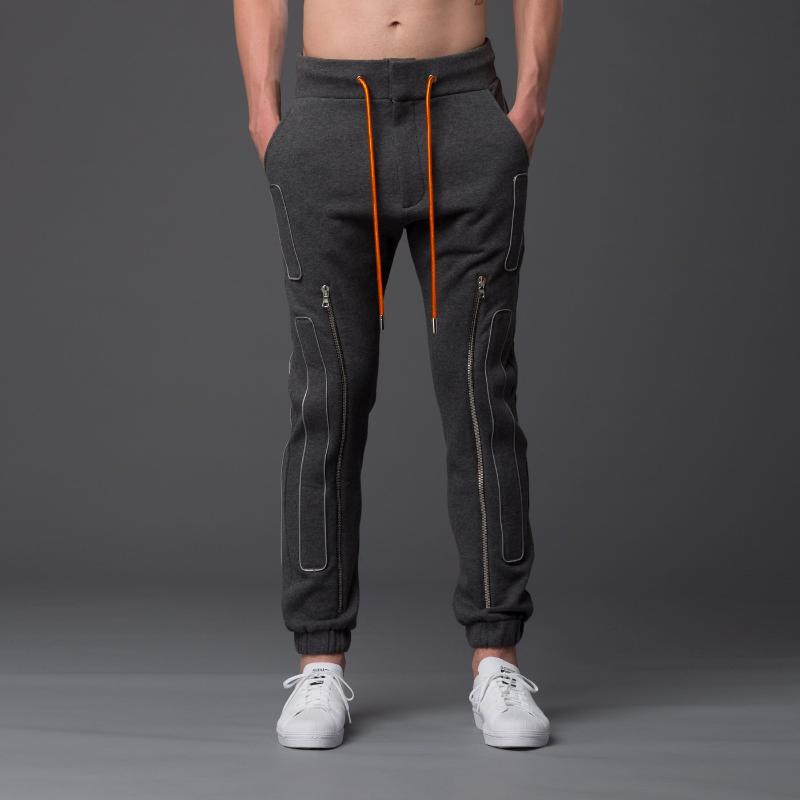 NP Elliott Grey Slim Zip Jogger
