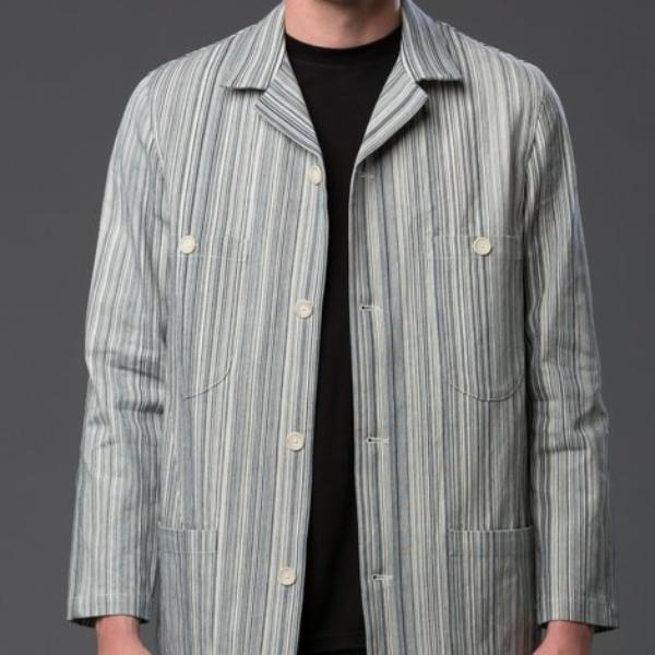 Krammer and Stoudt Striped Jean Jacket