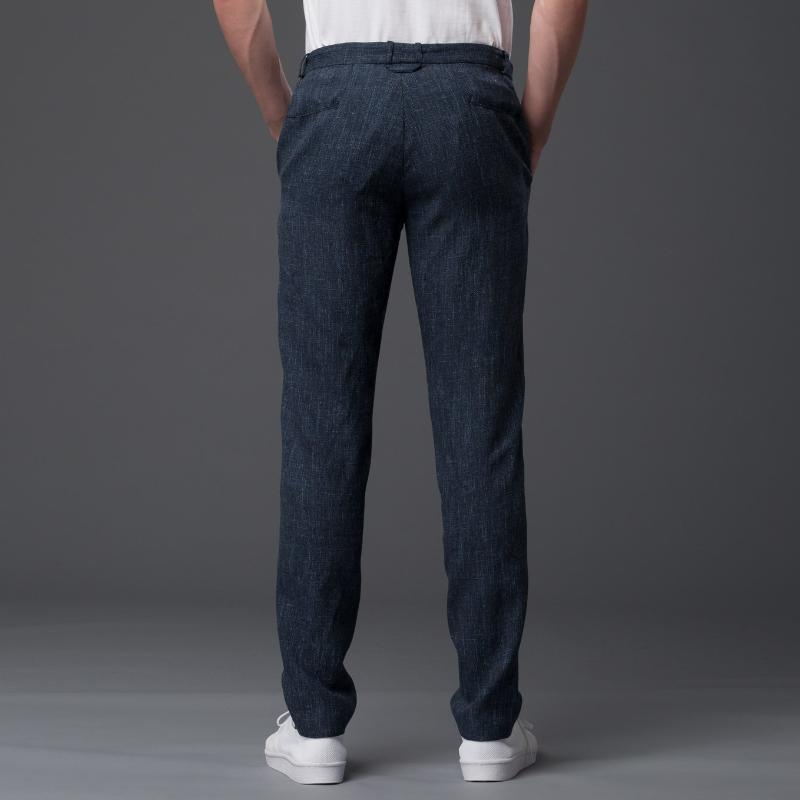 Ddugoff Navy Wool Casual Pant