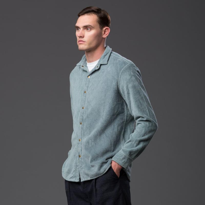 Adam Mar Montauk Button Up Shirt Stone Blue