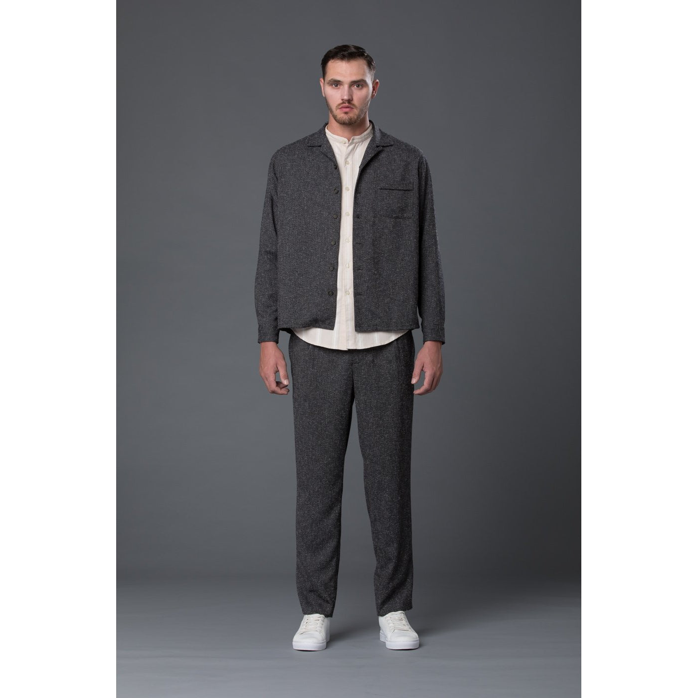 Krammer & Stoudt Grey Melange Shirt