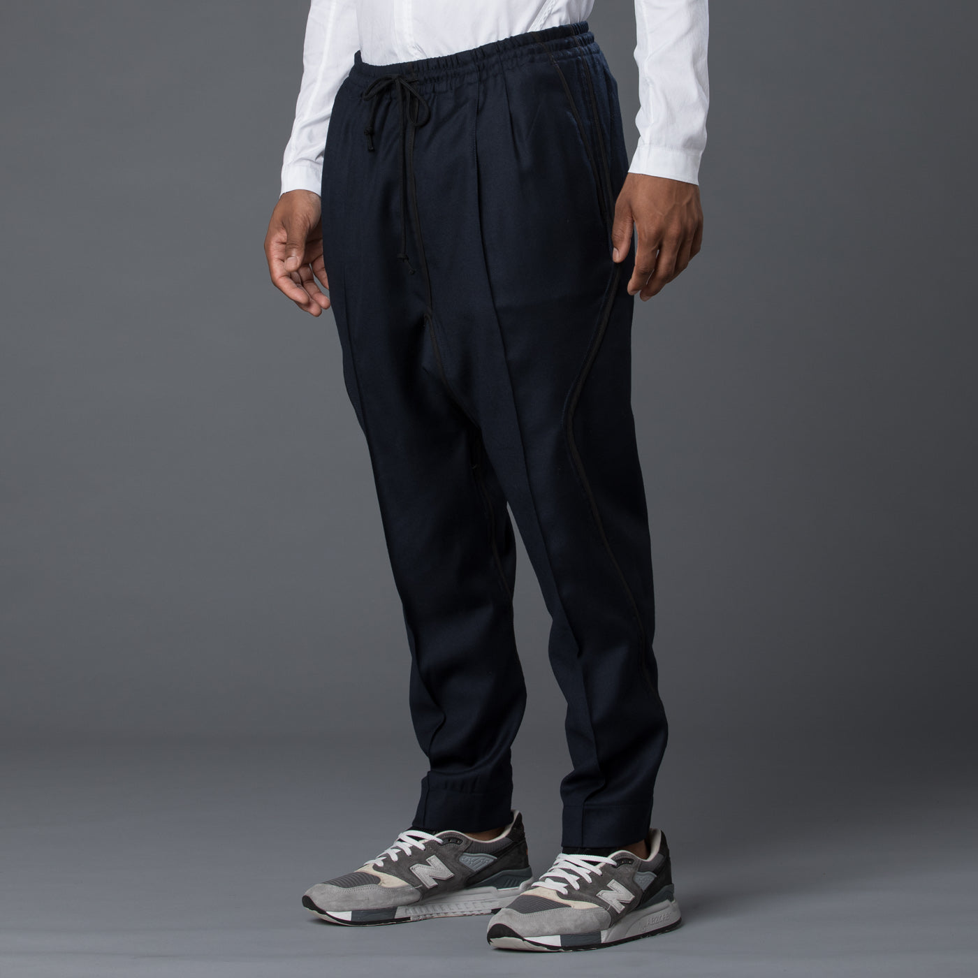 Abasi Rosborough Arc Ankara Pant in Navy
