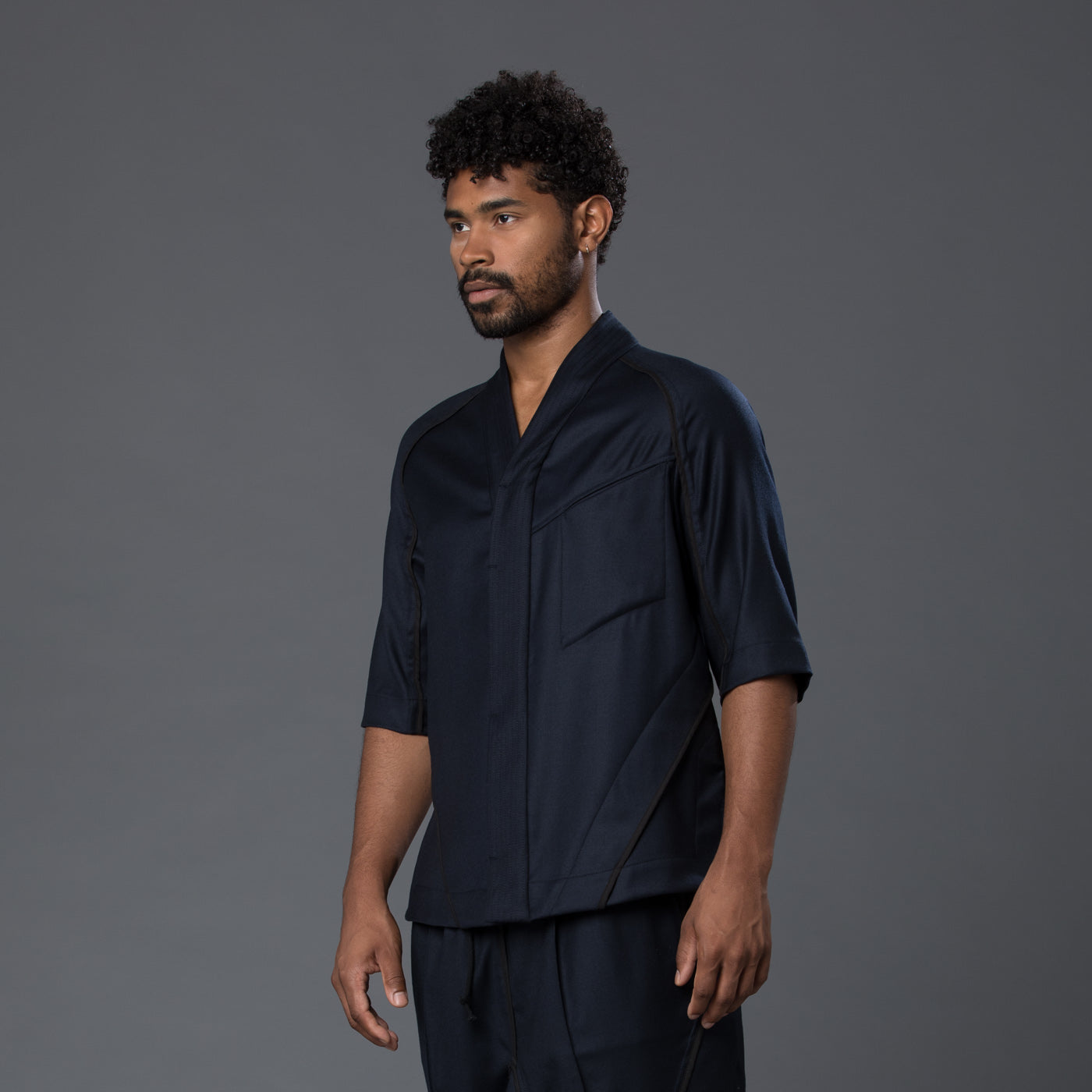 Abasi Rosborough Arc Desert Shirt in Navy
