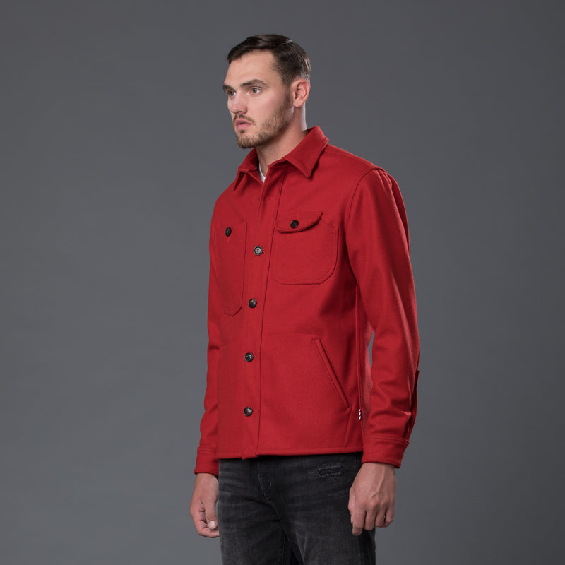 Freemans Sporting Club Red Wool Camp Shirt