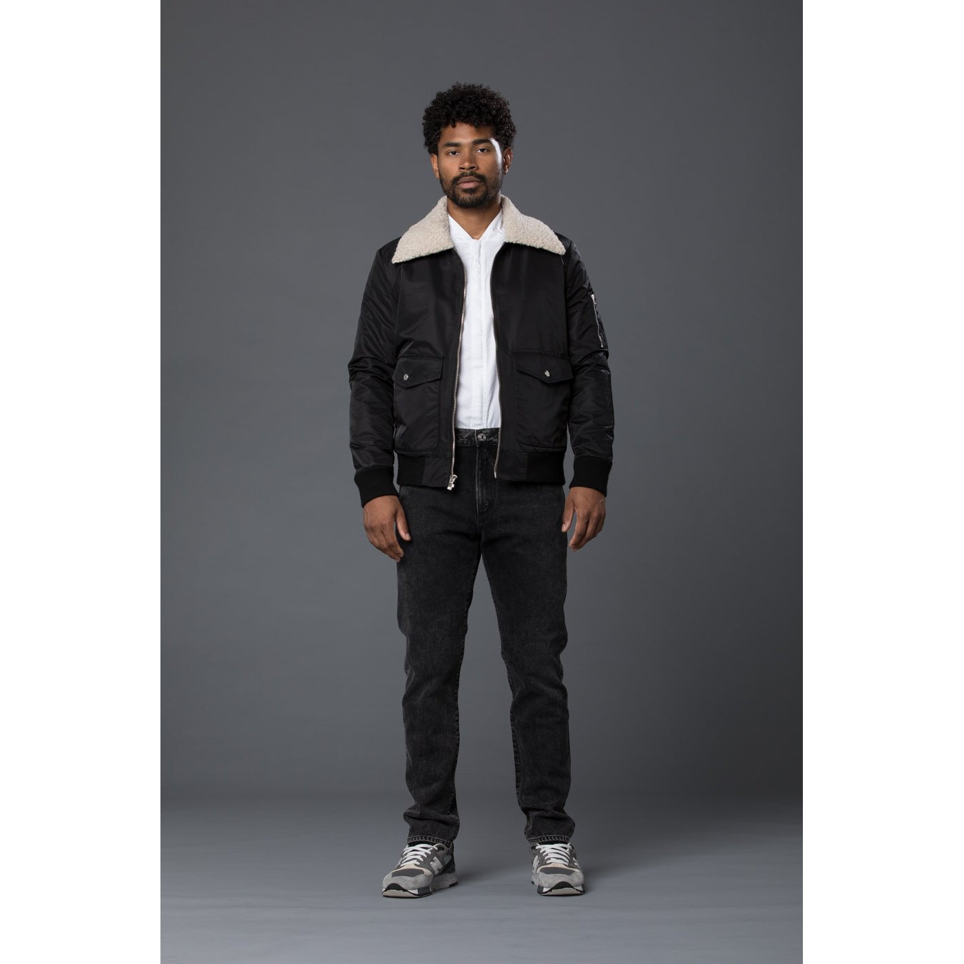 Krammer & Stoudt Black Bomber Jacket