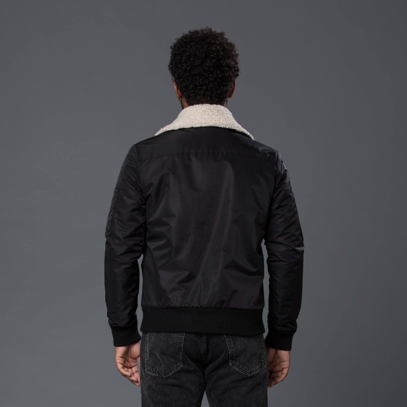 Krammer & Stoudt Black Shearling Aviator Jacket