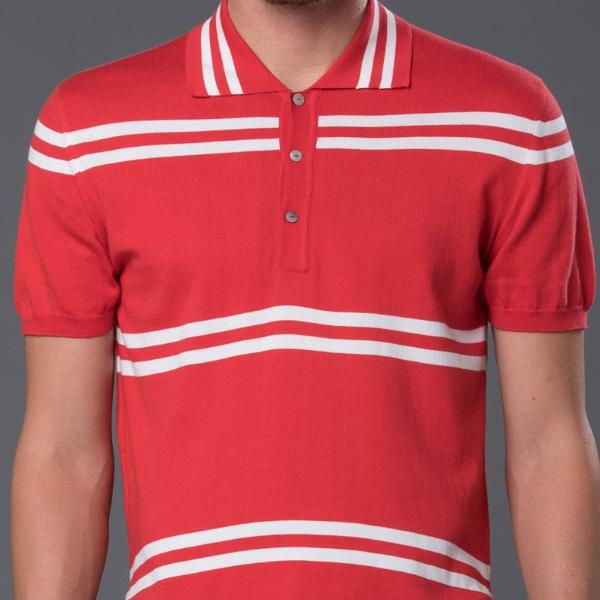 David Hart Striped Polo