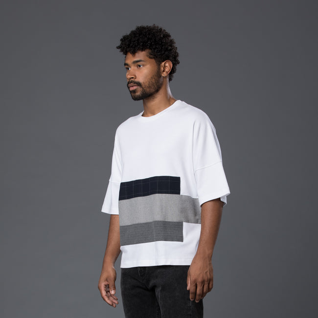 Grei New York Patchwork Oversized Tee