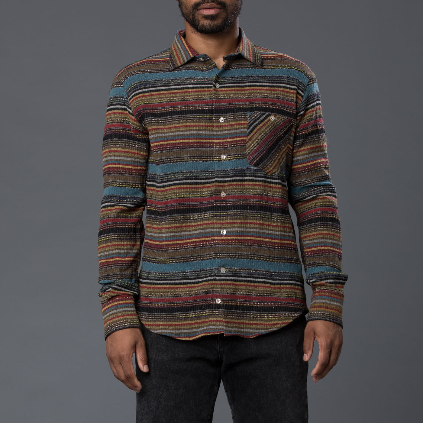 Freemans Sporting Club Striped Western Shirt