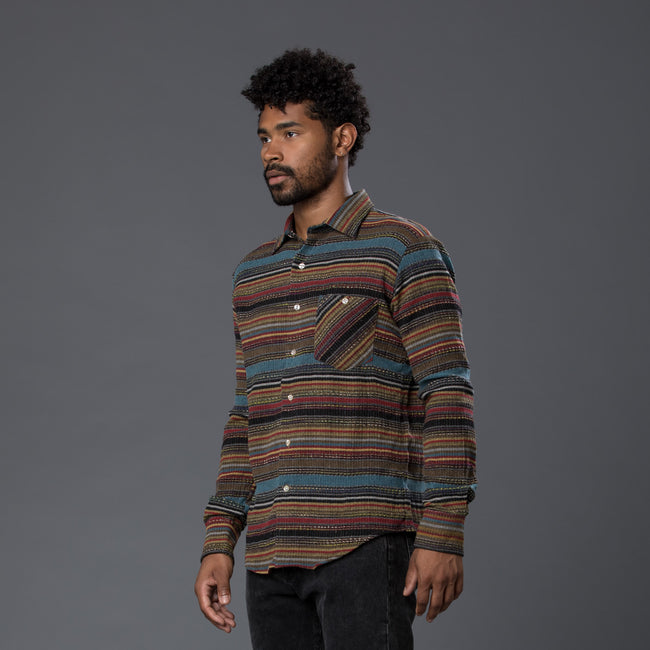 Freemans Sporting Club Striped Long Sleeve Shirt