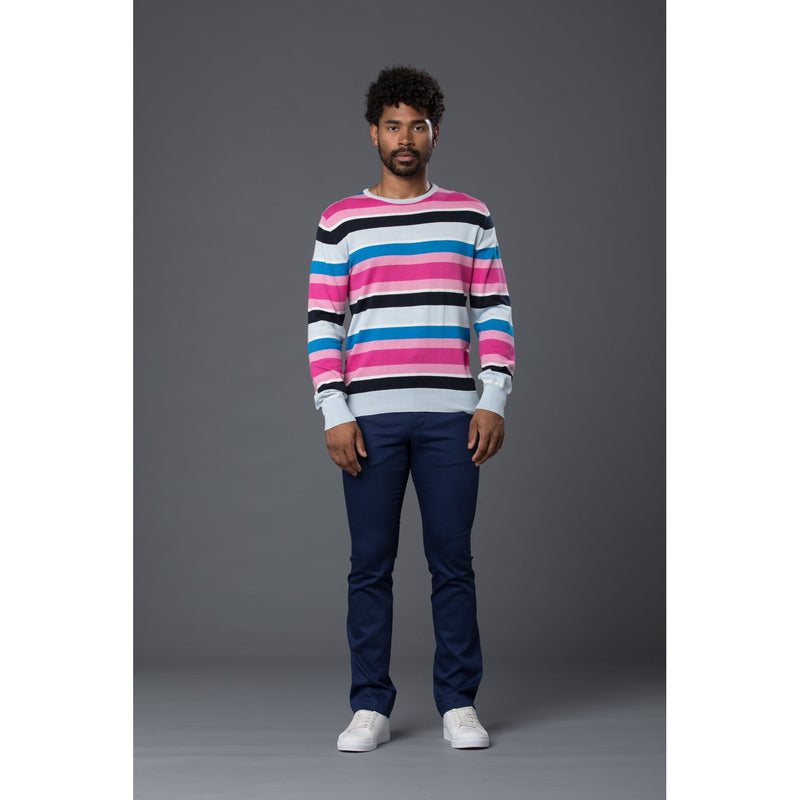 David Hart Multi-Stripe Knit