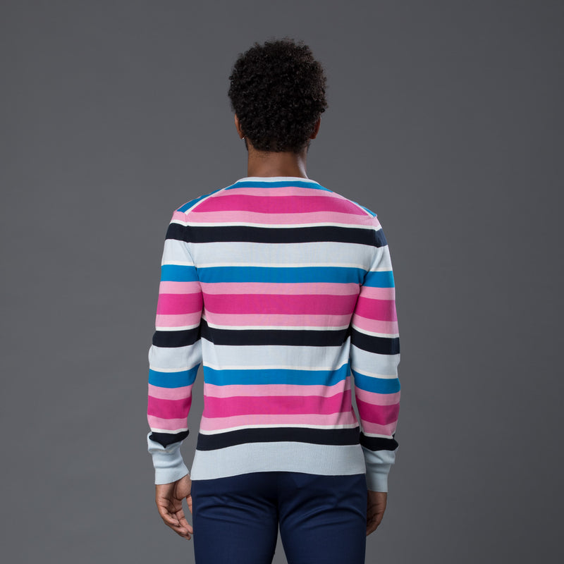 David Hart Multi-Stripe Sweater