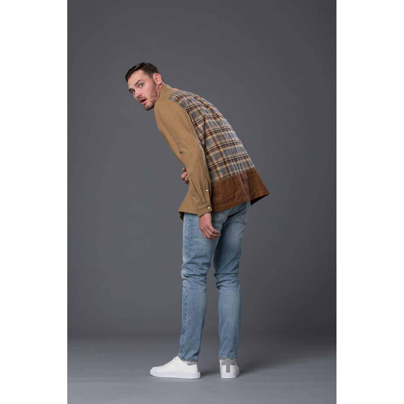 Grei New York Long Sleeve Straight Hem Boxy Shirt