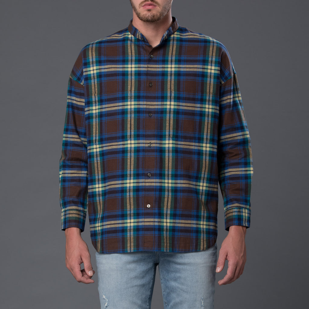 Gustav Von Aschenbach Green Plaid Shirt