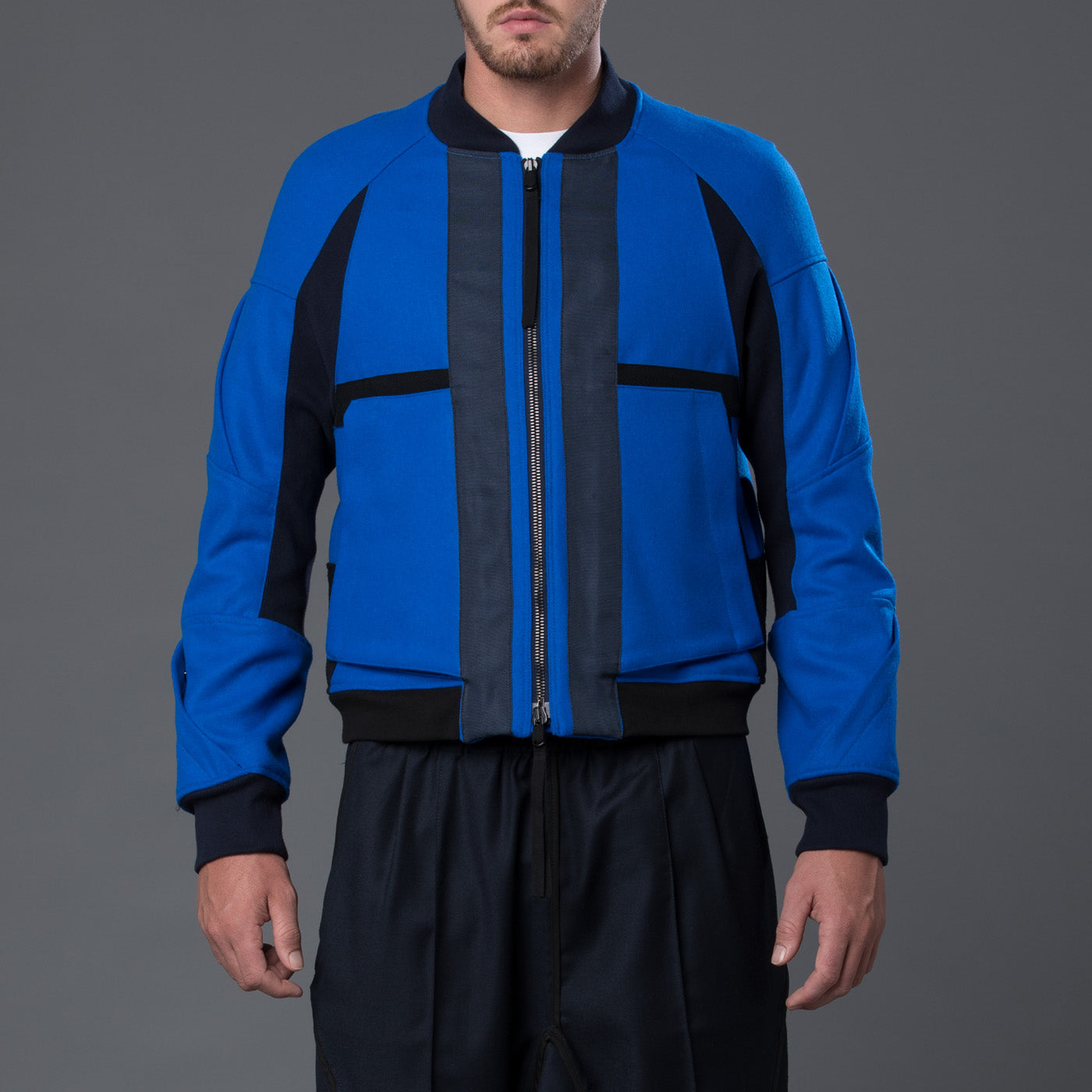 Abasi Rosborough Arc Flight Jacket in Azure Blue