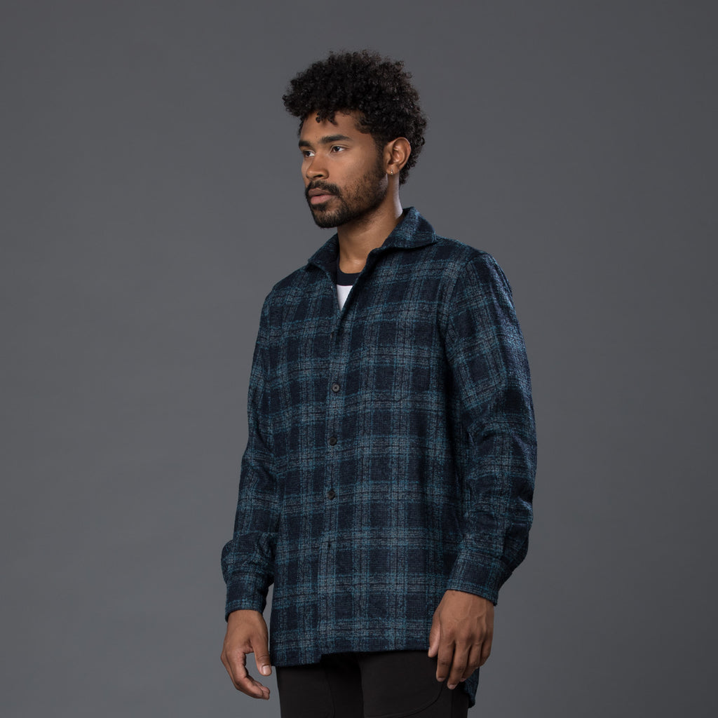 Deveaux New York Navy Overshirt