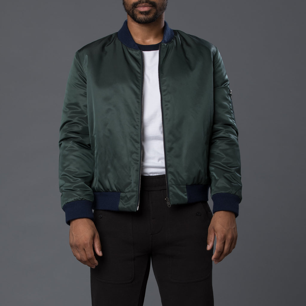 Krammer & Stoudt Green Reversible Bomber Jacket