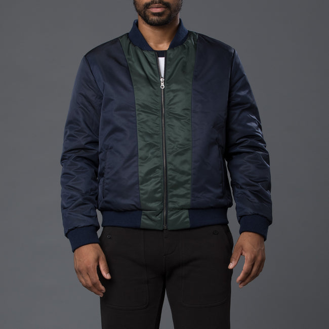 Krammer & Stoudt Blue Green Reversible Bomber Jacket